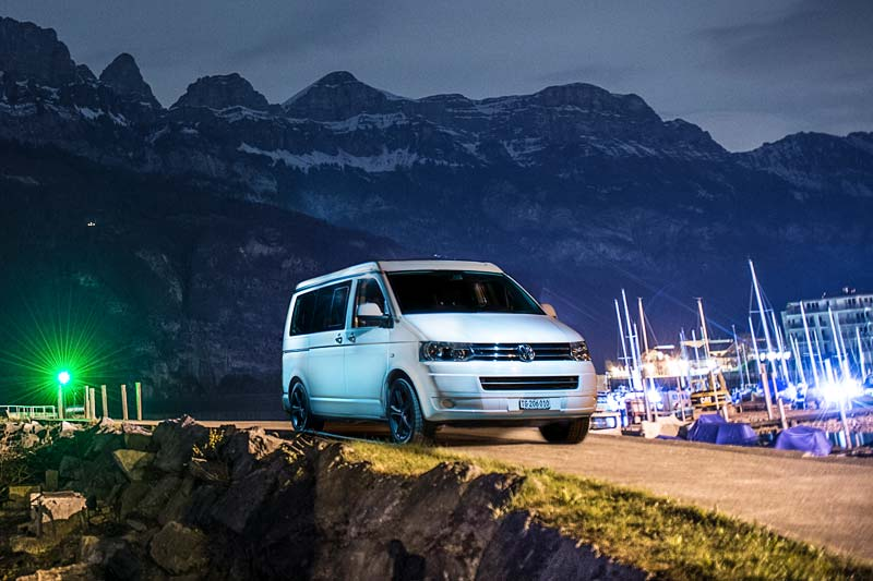 motorhome hire Switzerland, mountain ranges, lakeshore