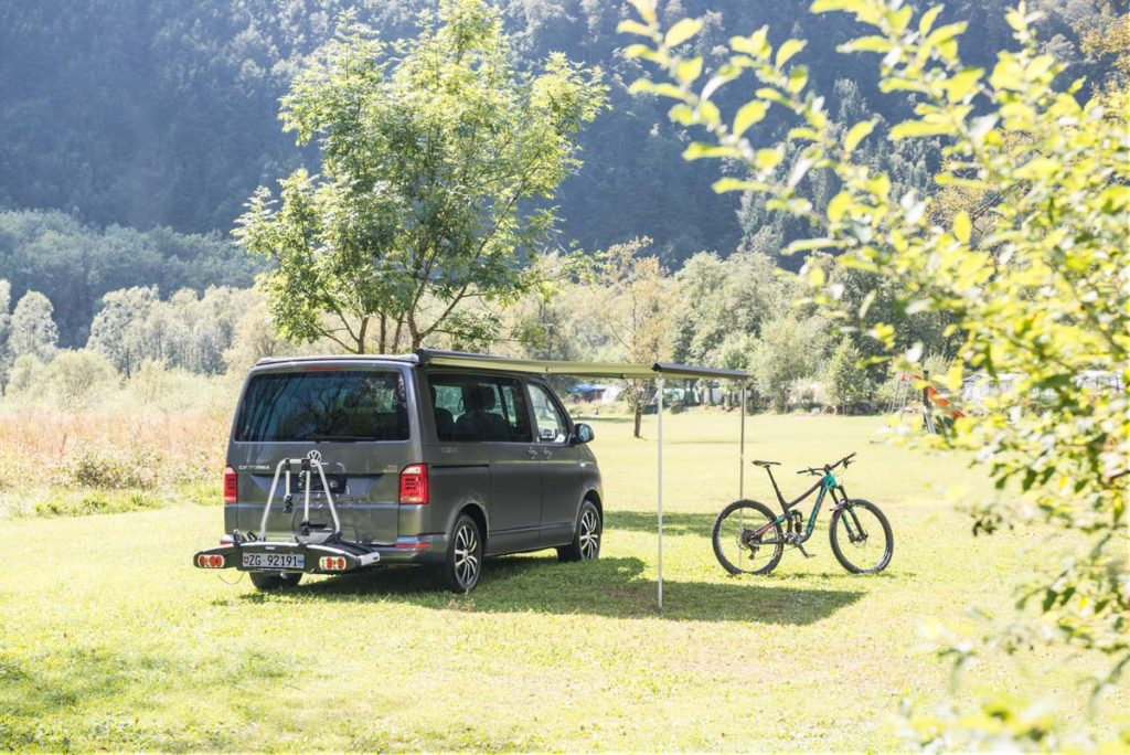 motorhome hire Europe, bike rack for up to 4 bikes
