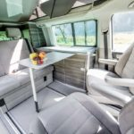 campervan hire Europe, comfortable living cabin with 4 seats