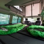 rent a campervan, Switzerland, extra-wide bed