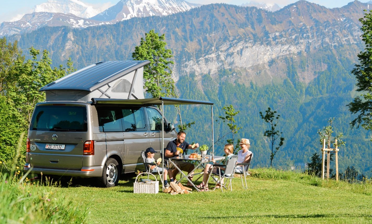 campervan rental switzerland, family camping, bernese oberland
