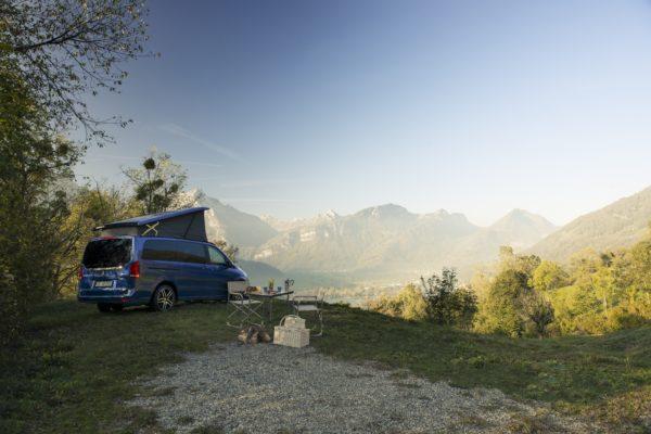 Camper mieten Schweiz, Mercedes Camper Vermietung, wildes Campieren, werksneue Camper mieten