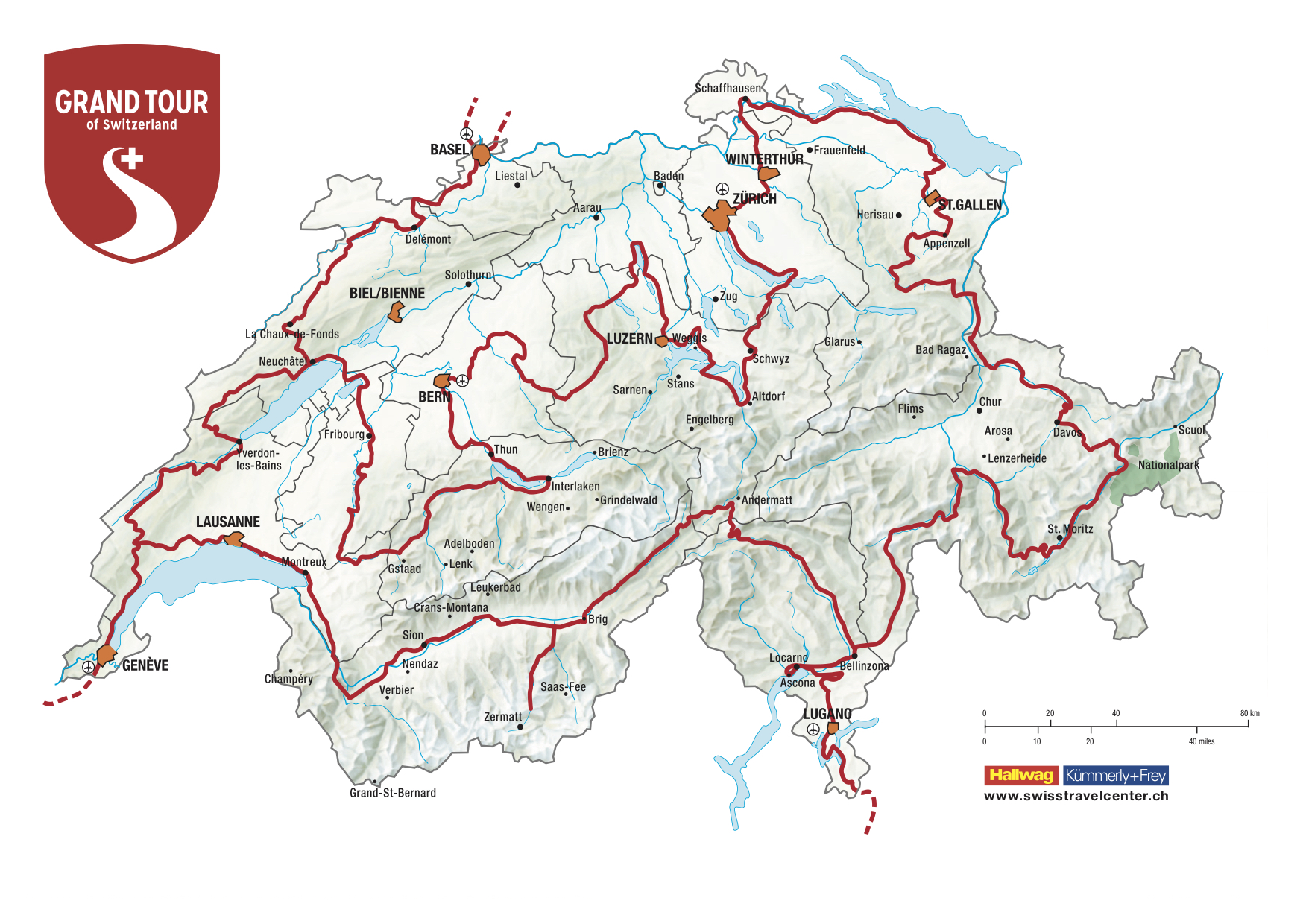 Grand Tour of Switzerland, Camper Rundreise Schweiz